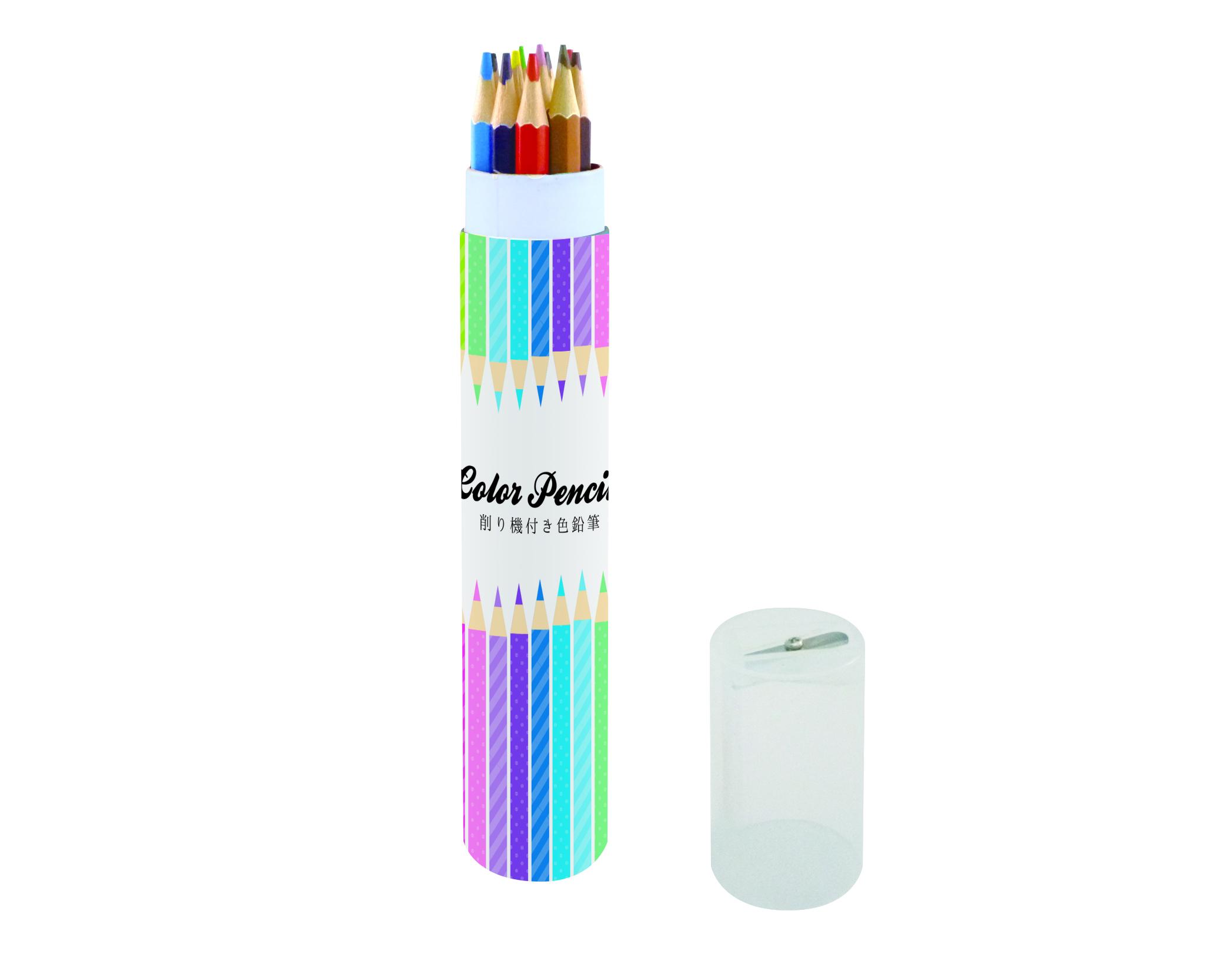 Vita stile 鉛筆削り付色鉛筆(12色)画像